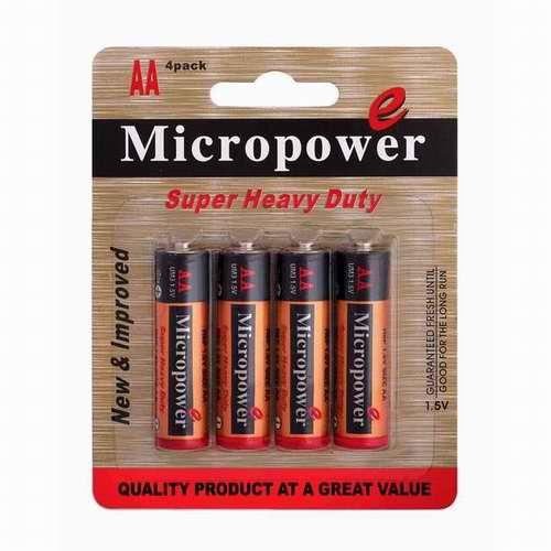 Micropower Lr03 Battery Blister Card