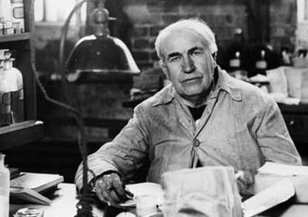 alkaline battery invent - Edison