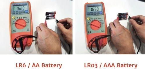voltage range of alkaline batteries